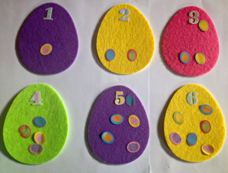 Counting with Felt Easter Eggs