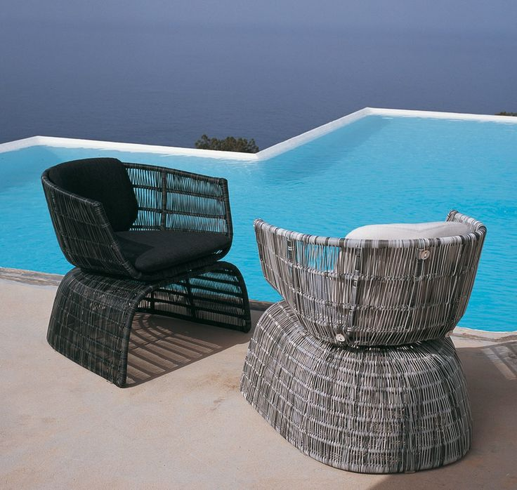 A Beautiful Pair Of Crinoline Arm Chairs From BB Italia.