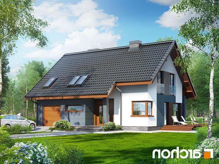 projekt domu - Dom w miodokwiatach lustrzane odbicie 2
