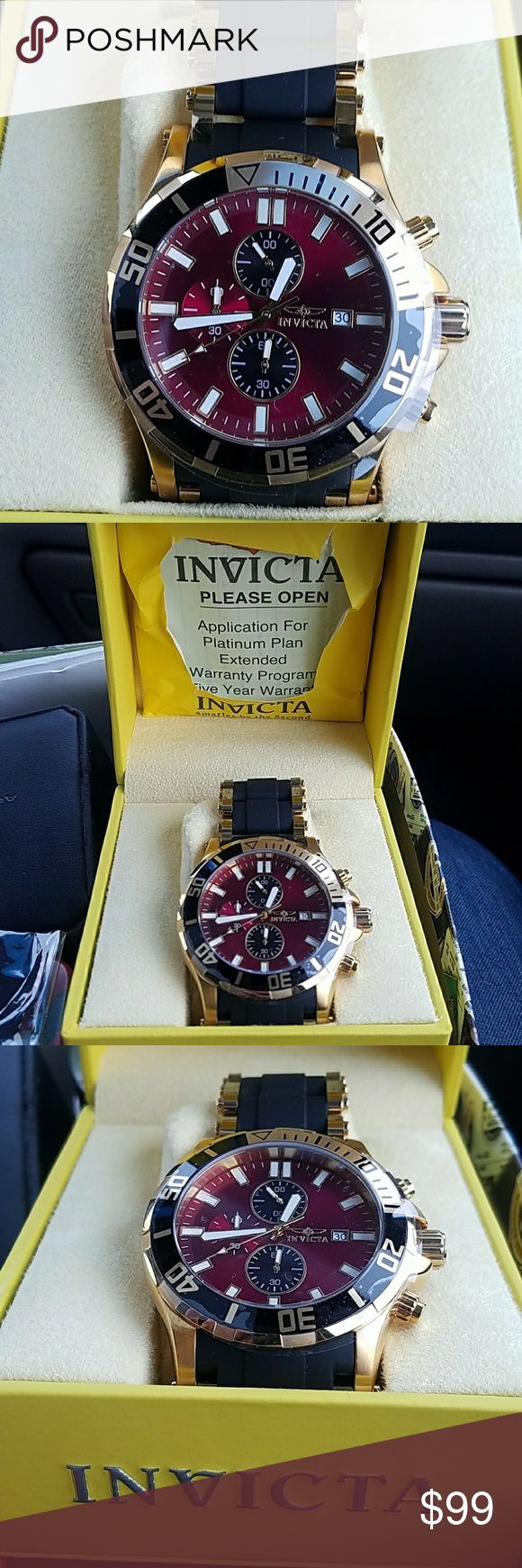 BN Invicta watch in Original Box with paperwork I received this as well as a couple of other wayches that I presently have for sale from a very wealthy estate I recently liquidated. I know I have priced it VERY low, but I do not know anything about it. It has all of the instruction manual and paperwork for a warranty as well. Please let the photos speak for themselves. Invicta Accessories Watches
