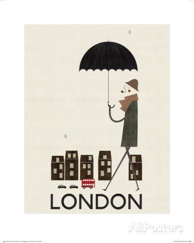 Londra Poster di Blanca Gomez su AllPosters.it