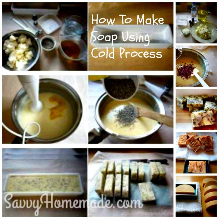 how to make homemade soap using cold process