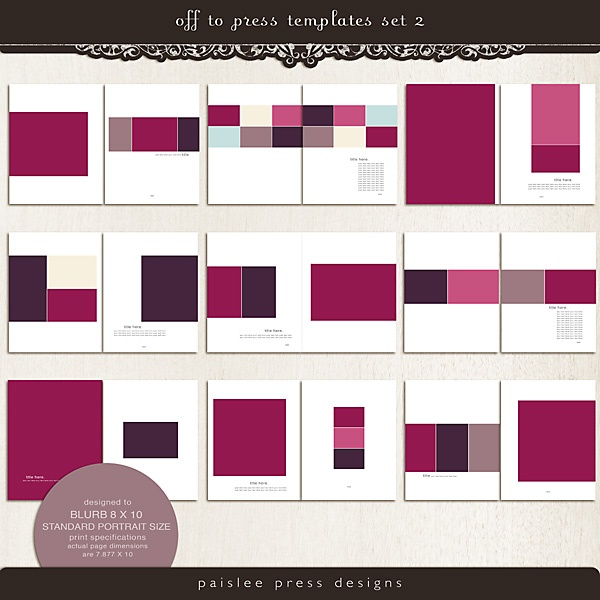 Template Set By Paislee Press
