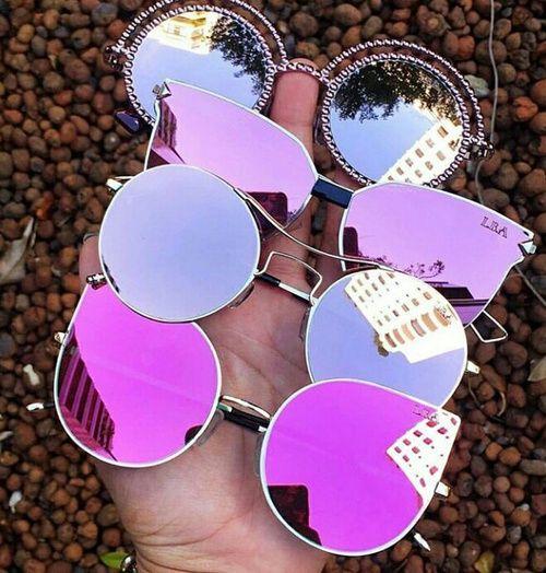 Imagem de rosa, oculos de sol, and coloridos