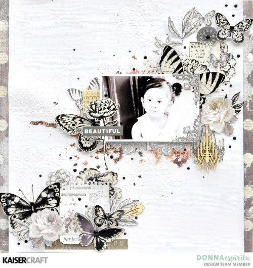 """Beautiful"" Pen and Ink Layout by Donna Espiritu - Kaisercraft Official Blog"