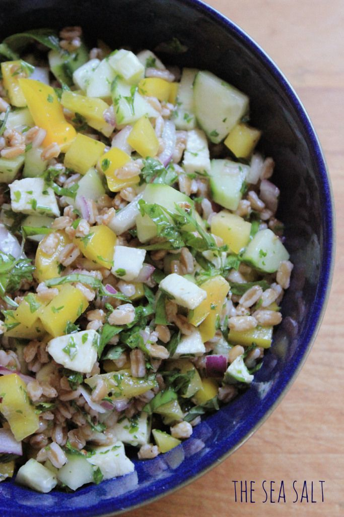 Summer Farro Salad from The Sea Salt | Healthy(ish) recipes to try ...