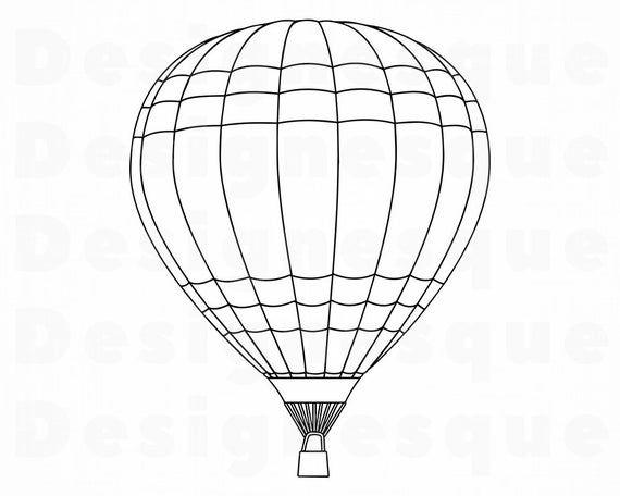 Hot Air Balloon Outline Svg Hot Air Balloon Svg Hot Air Etsy Hot Air Balloon Coloring Pages Hot Air Balloon Outline Hot Air Balloon Clipart