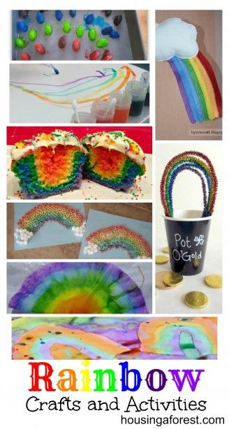 "This link has snack and crafts for noah-craft is coffee filter rainbow, snack is ""eat a rainbow"" and rainbow goldfish"