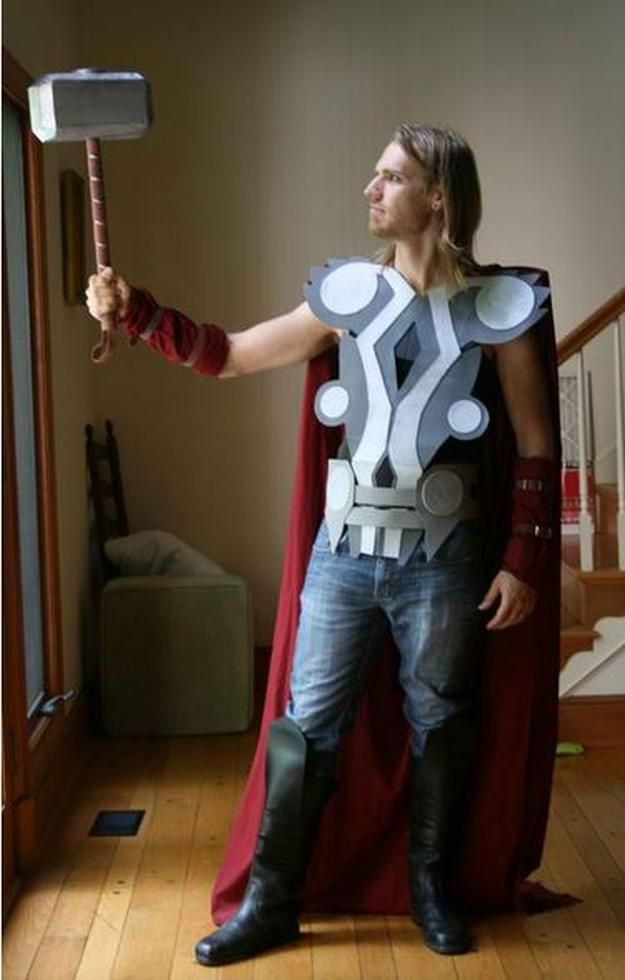 DIY Thor Costume for Adult and other DIY superhero costume ideas, see more at http://diyready.com/diy-superhero-costume-ideas