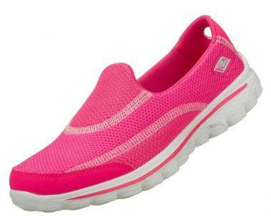 Skechers Go Walk 2 Hot Pink Slip On Trainers