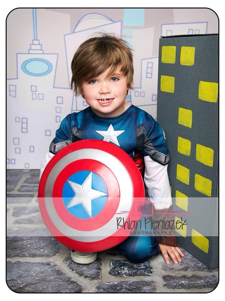 Superhero Mini Session. Children. Captain America. Rhian Pieniazek Photography.