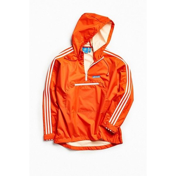 adidas Tennoji Windbreaker Jacket (130 CAD) ❤ liked on Polyvore featuring men's fashion, men's clothing, men's activewear, men's activewear jackets and adidas