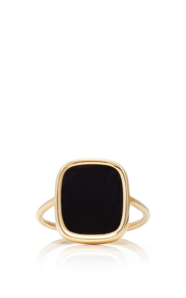 Ginette NY Antique Black Onyx Ring