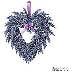 Hanging Heart-Shaped Valentine's Day Wreath - Purple - Lavender