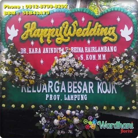 Bunga Papan Happy Wedding HW759WF