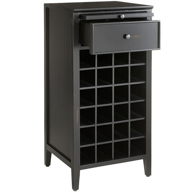 Wells Open Wine Cabinet - Rubbed Black | Pier 1 Imports