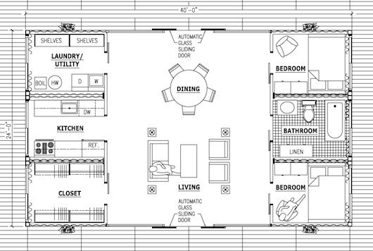 How to build a simple three bedroom container house - Simple container house plans ...