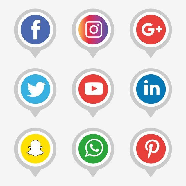 Social Media Icons Set Logo Vector Illustrator Social Media Icon Png And Vector With Transparent Background For Free Download Dengan Gambar Ikon Aplikasi Aplikasi Instagram