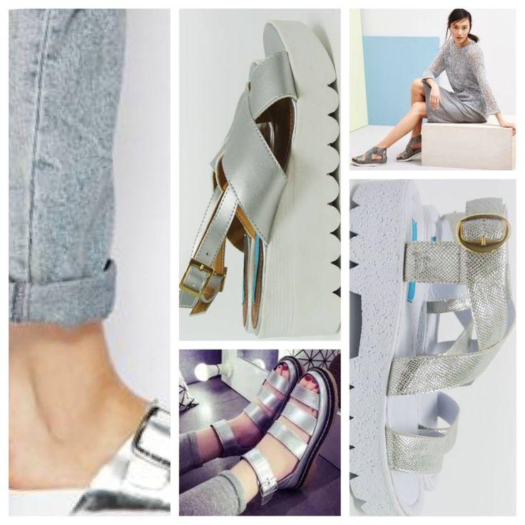 Nuestra experta en moda recomienda!  TIP: Las sandalias plateadas de plataforma se ven divinas con jeans,leggings y vestidos. Un abrazo con Estilo, Tata #platformsandals #howtowearplatformsandals #tatatips