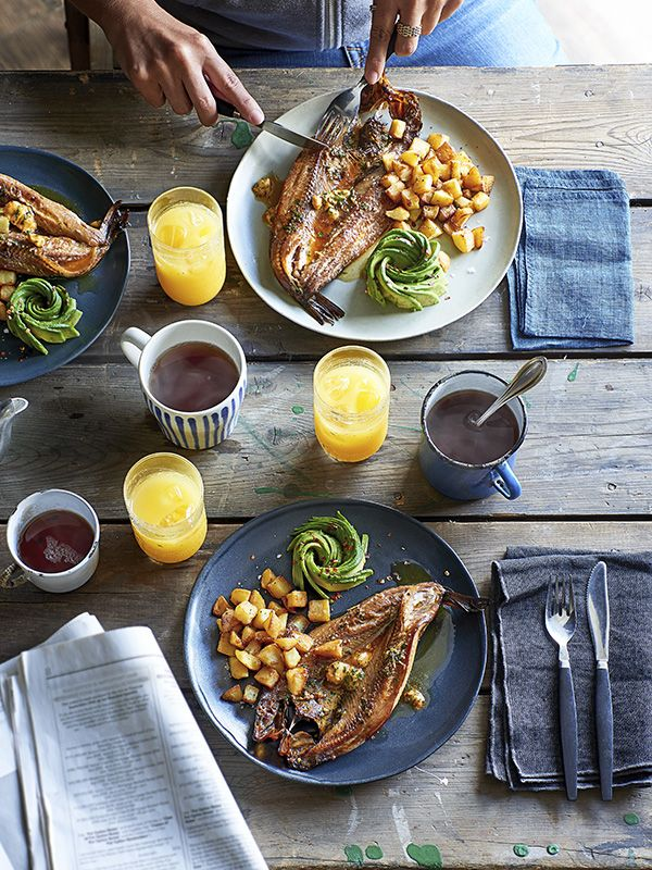 Kippers are a classic breakfast food. We've given them an update with this recipe for spiced buttered kippers with crispy potatoes and avocado.