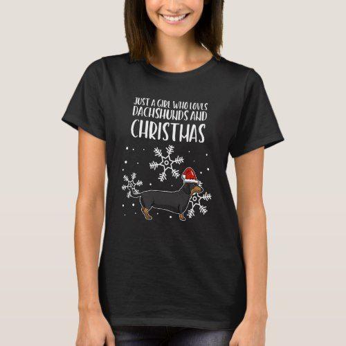 Dachshund Wiener Dog Christmas Santa X-mas Gift T-Shirt | Zazzle.com