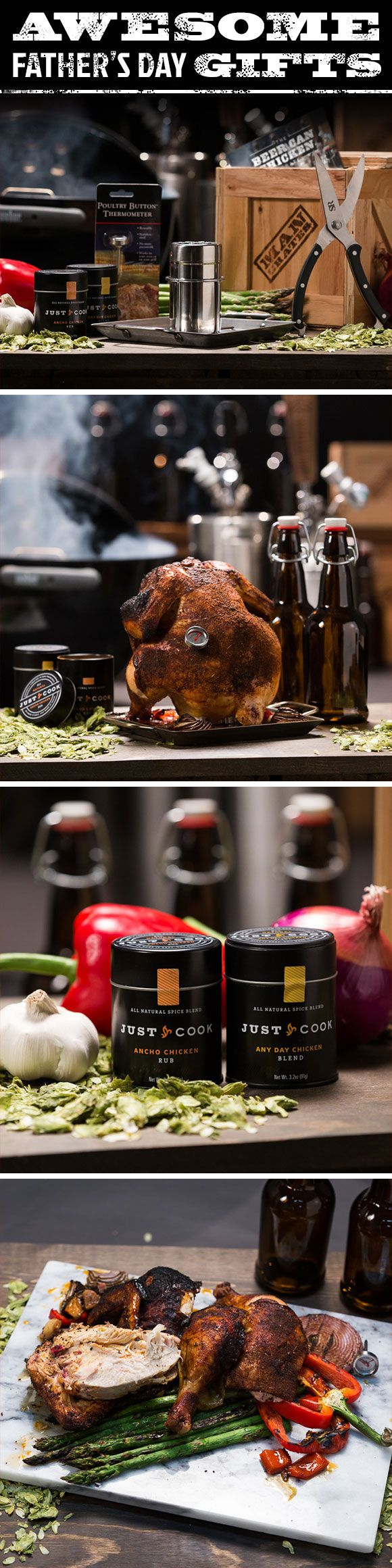 Is your dad a master chef, or are his grilling skills limited to burning some charcoal and opening a beer? Fortunately, with the Beer Can Chicken Crate, that's all it takes to make some of the juiciest, most flavorful chicken ever. It may not be the most gourmet cooking method ever, but that's what might make it the perfect gift for dad.