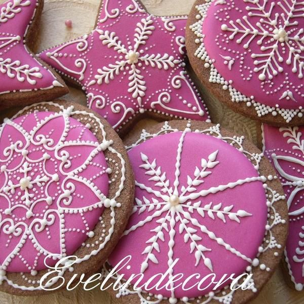 Xmas fuchsia cookie set