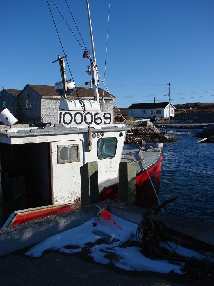 Wintering at the dock in Peggy's Cove, Nova Scotia.