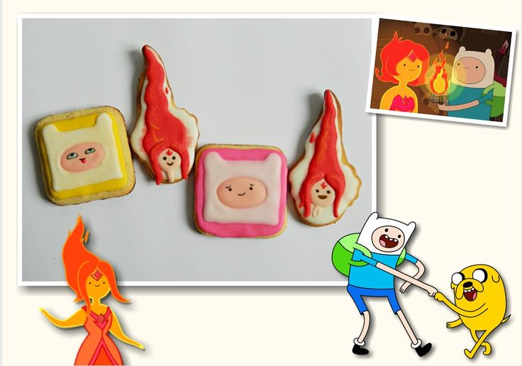 Adventure time cookies Finn and Flame Princess