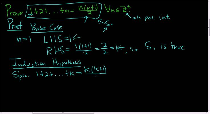 Principle of Mathematical Induction The Sum of the First n Integers Proof