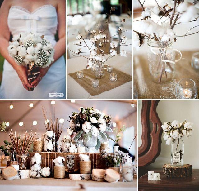 flor de algodn la idea para decorar tu boda este invierno