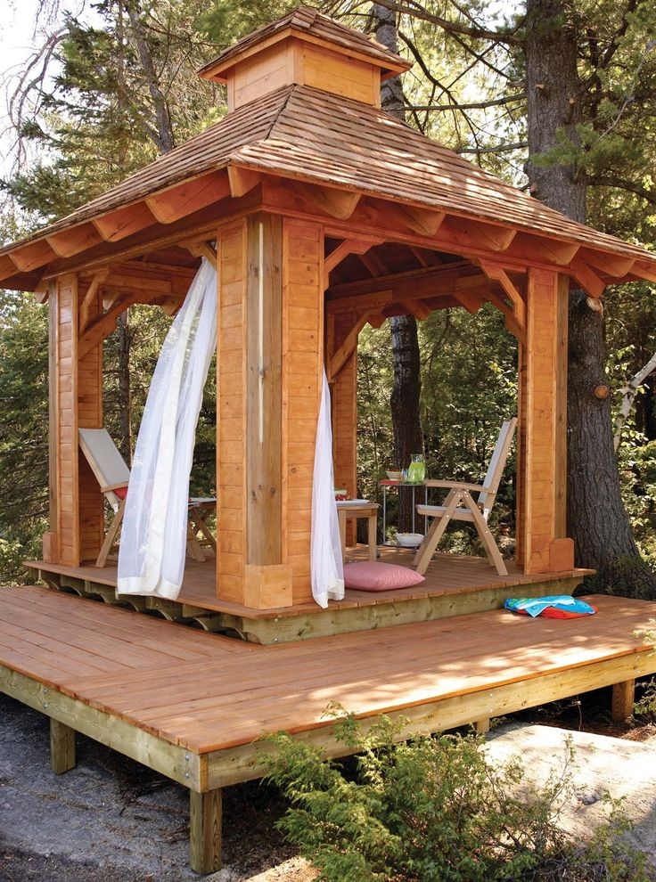 17 best ideas about gazebo plans on pinterest outdoor for Plans for gazebo with fireplace