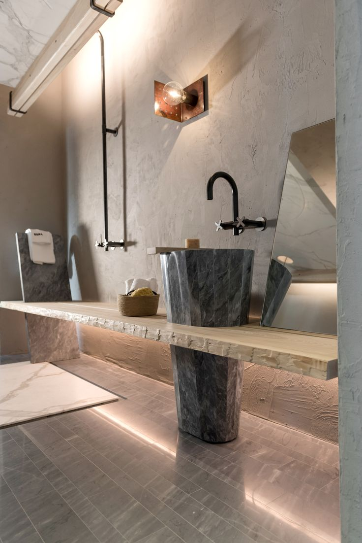 The biodynamic winegrower's bathroom, Verona. Designed by CLAB for EERA | Photo by Marco Toninelli