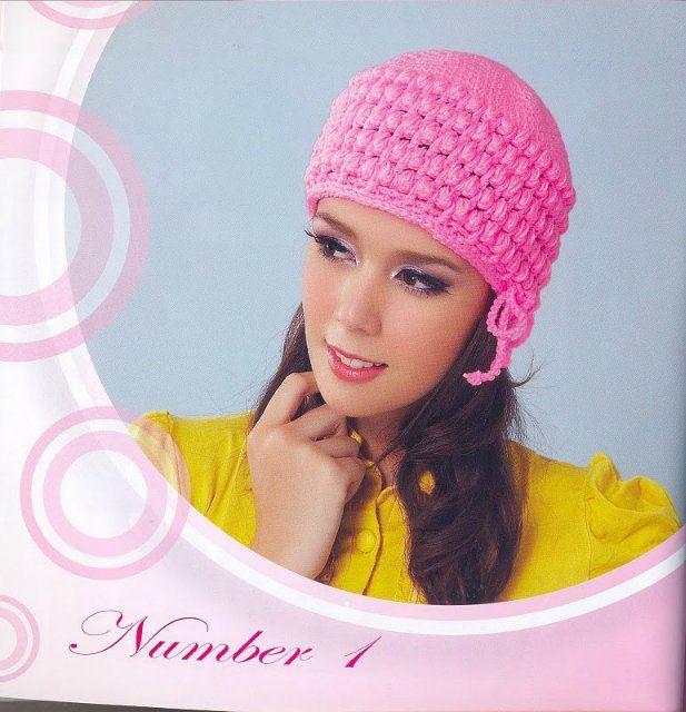 Bellissimi cappelli e berretto all'uncinetto per le ragazze: La Rivista uncinetto - Artigianato idee - Artigianato per bambini
