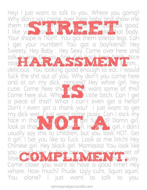 There is no situation in what I'm wearing or how I look gives anyone the right to comment on it.