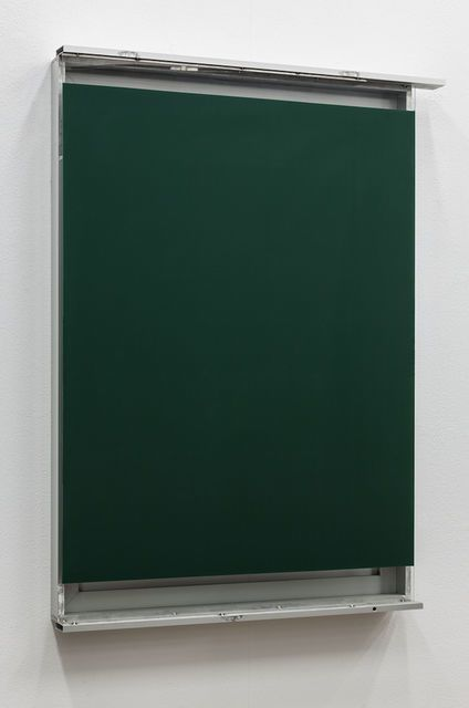 Pedro Cabrita Reis . green glass window #1, 2014
