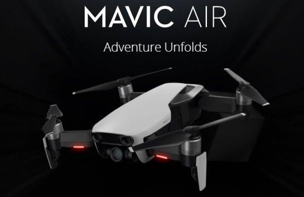 DJI Officially Launches All New Mavic Air - http://blog.planet5d.com/2018/01/dji-officially-launches-new-mavic-air/