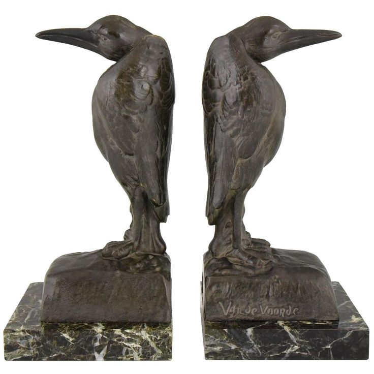 Strikingly Idea Bird Bookends. French Art Deco Marabou Bookends by Georges Van de Voorde  1930 247 best Arts Crafts and Style images on