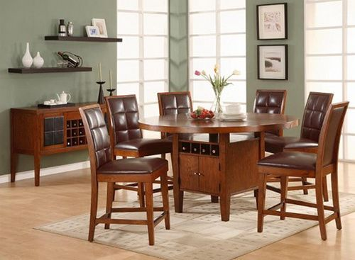 Round Dining Table For 6 With Leaf & 127 best Round Dining Table images on Pinterest | Dining rooms ...