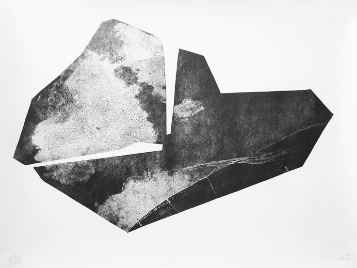 "Witold Winek ""uoIX"", 78X106, relief print, 2013"