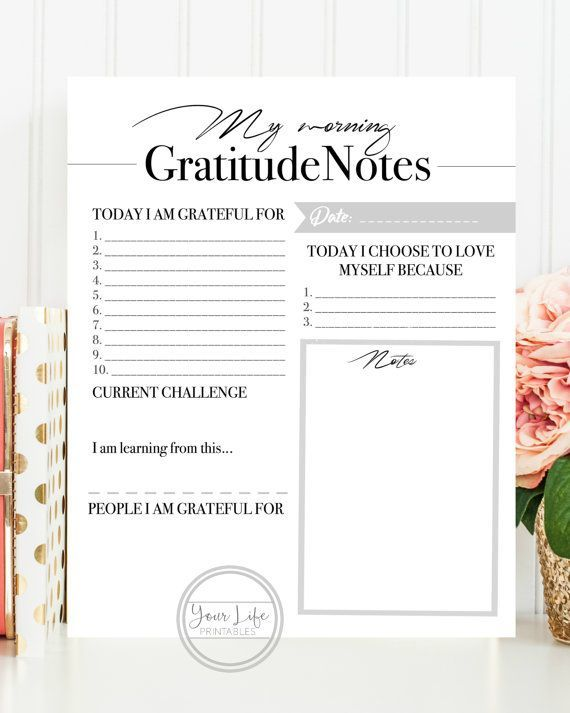 Gratitude is the key ingredient to attract more abundance to your life.  Make sure you write why you are grateful for today.  I use this everyday!