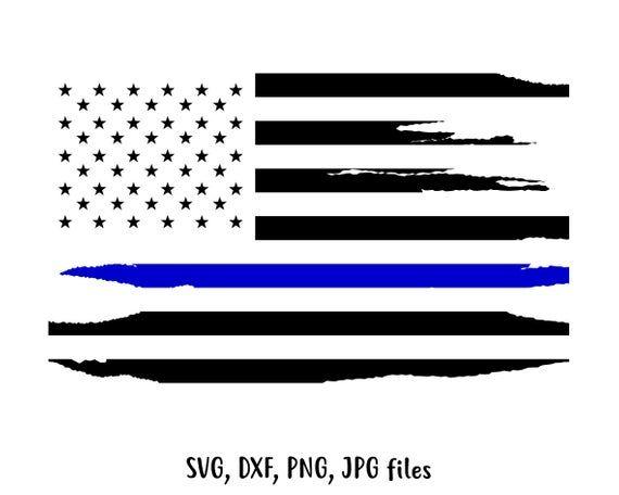 American Flag Svg Police Flag Svg Thin Blue Line Svg Police Etsy Police Flag Fourth Of July Crafts For Kids Svg