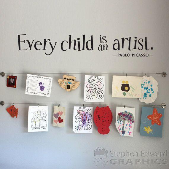 Ogni bambino è un artista Decalcomanie da muro bambini