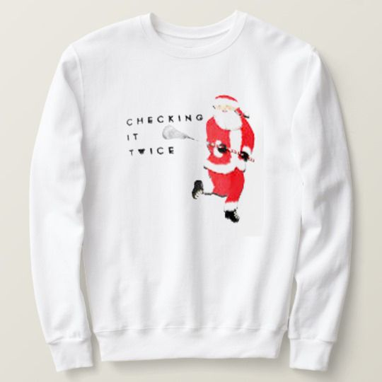 Checking It Twice Santa Claus Christmas Custom Sweatshirts