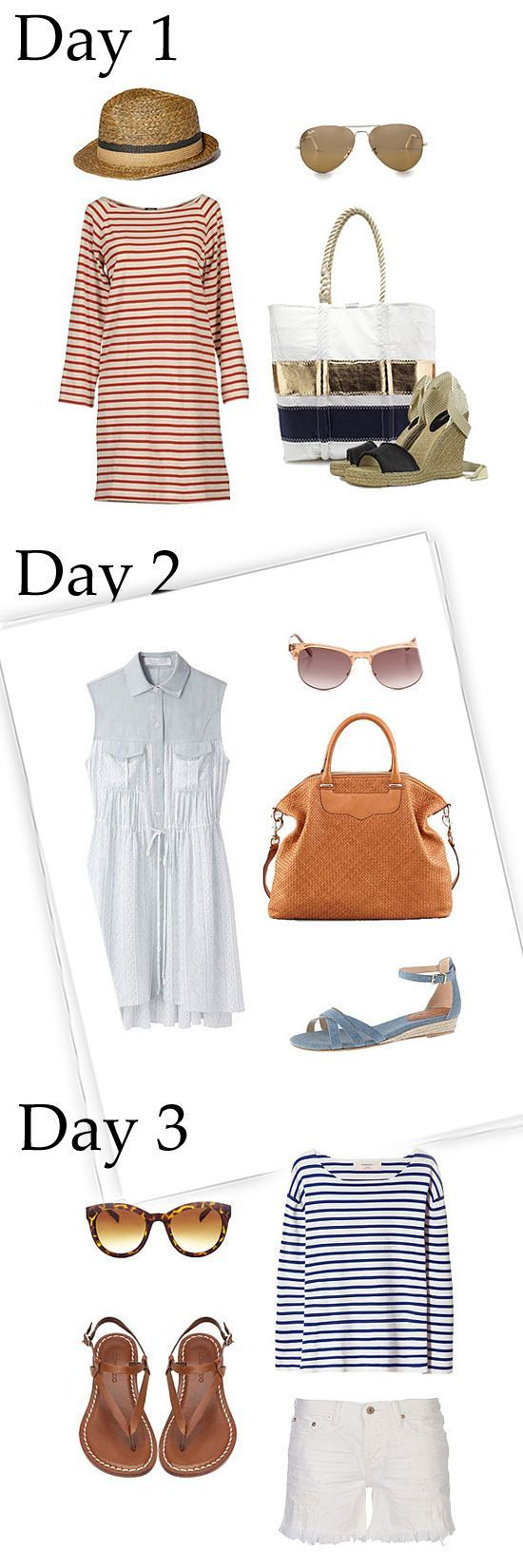 Preppy dresser? We put together 3 perfect outfits for a long weekend in Nantucket, Martha's Vineyard, Kennebunkport, or beyond