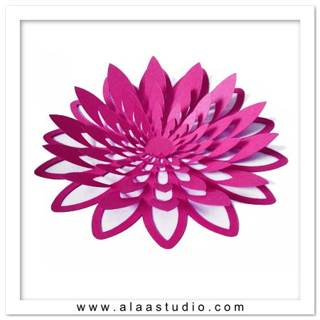 3d large pop out flower 2 cameo cutting ideas for Paper cut out templates flowers