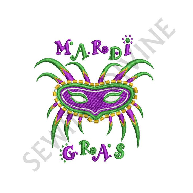 Mardi Gras Mask Machine Embroidery Designs