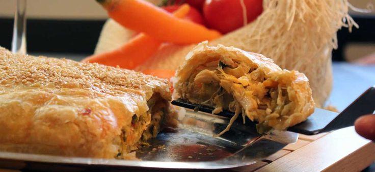 Κοτόπιτα με τυριά #pies #recipes #πίτες #συνταγες #συνταγές