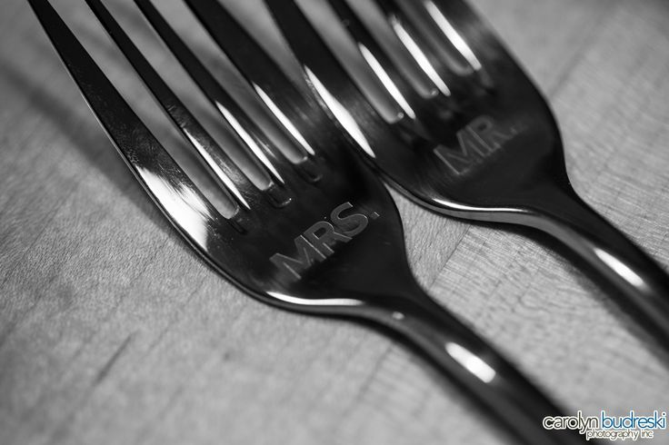 Mr & Mrs Wedding cake forks, personalized wedding details, wedding detail photography, canmore wedding photography ideas