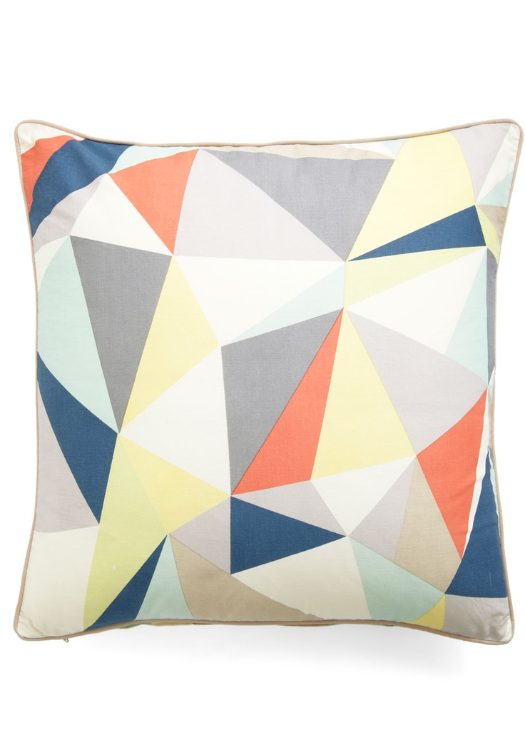 graphic diner pillow - modcloth like these colors